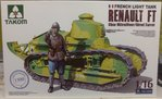 Renault FT mit MG & Figur   1/16
