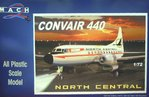 Convair 440 North Central Airlines, Mach 2, 1/72, Plastik,