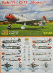 "Yak-11 / C-11 ""Moose"",  RS Models, 1/72, Red Stars on Airshows"