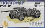 German Gun 10,5 cm s.K.18 with Crew , Toxso Models, 1/72