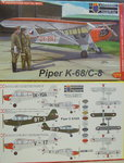 Piper K-68/C-8 , KP, 1/72 , New Tool, Czech Versions