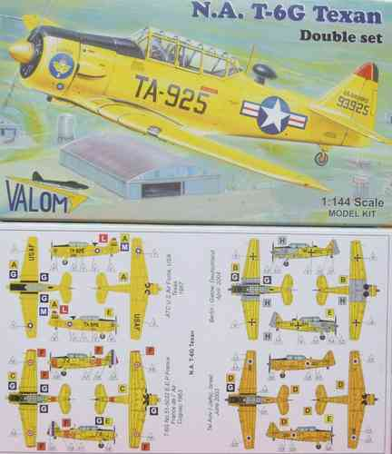 North American T-6G Texan, Double Set,1/144, Valom