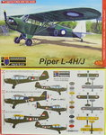 Piper L-4 H/J , KP, 1/72 , New Tool, Militär International