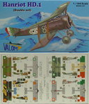 Hanriot HD.I , Double Set, 1/144, Valom