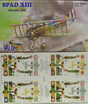 Spad XIII , Double Set, 1/144, Valom