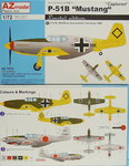 "P-51B ""Mustang"" Captured , AZ Model, 1/72, Limited"