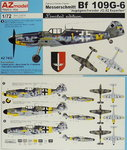 Messerschmitt Bf-109  G-6 JG-52 Experten , AZ Model, 1/72, Limited
