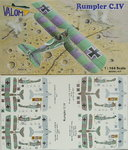 Rumpler C.IV  , Double Set, 1/144, Valom