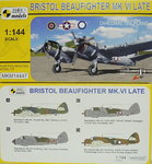 "Bristol Beaufighter Mk.VI Late,""Dihedral Tailplane"",1/144, Mark I"