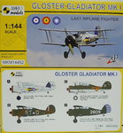 Gloster Gladiator Mk.I,Last Biplane Fighter,1/144, Mark I
