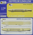 Zeppelin LZ-47, Naval Raiders,1/720, Mark I,