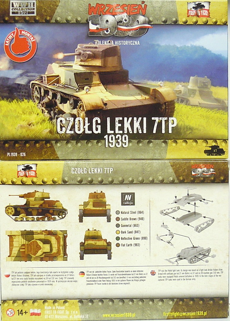 Light Tank 7TP, First To Fight, 1/72