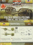 Polish field gun 75 mm WZ.1897 Schneider ,First To Fight, 1/72, Doublekit