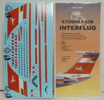 Iljuschin IL-62M Decal Interflug, 1/144, BOA