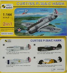 Curtiss P-36 A/C Hawk, USAAC, 1/144, Mark I, 2in1