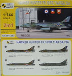 Hawker Hunter FR.10/FR.71A/FGA.73A, Recce,1/144, 2 in 1, Mark I