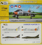 Hawker Hunter T.7, Two-Seat Trainer, 1/144, 2 in 1, Mark I