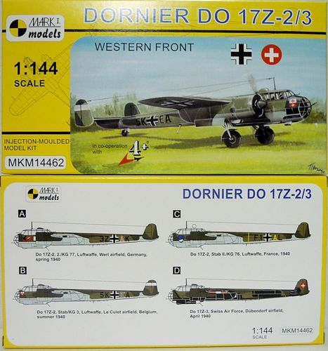 Dornier Do-17 Z-2/3 , Westfront,1/144, Mark I.Models