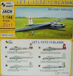 Let L-13/TZ-13 Blanik, Military Service,  2in1,1/144, Mark I.Models