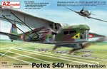 Potez 540 Transport Version, AZmodel, 1/72