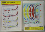 Decal  Zlin Z-242 L Civil, 1/72, KP