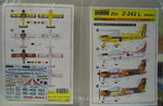 Decal  Zlin Z-242 L Military, 1/72, KP