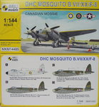 D.H.Mosquito B.VII/XX/F-8, Canadian Mossie, 1/144, Mark I.