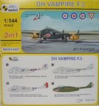 DH Vampire F.3, Jet Fighter ,1/144, 2in1, Mark I