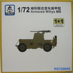Armored Willys MB, 1/72, S-Model, Double Set