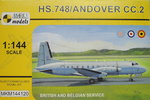 HS.748/Andover CC.2, British and Belgian Service, 1/144, Mark I.